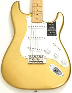 Fender American Original 50s Stratocaster Electric Guitar Aztec Gold 0110112878