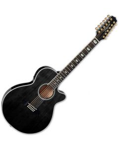 Takamine TSP158C-12 SBL 12 String Acoustic Electric Guitar See Thru Black Gloss TAKTSP158C12SBL