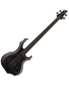 ESP LTD F-1004 Electric Bass See Thru Black LF1004FMSTBLK