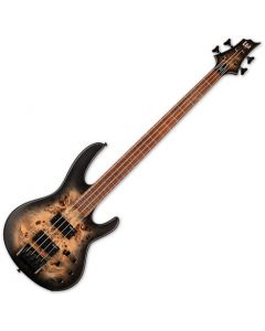 ESP LTD D-4 Electric Bass Black Natural Burst Satin LD4BPBLKNBS