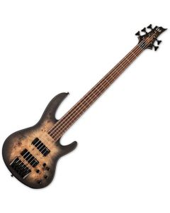 ESP LTD D-5 5 String Electric Bass Black Natural Burst Satin LD5BPBLKNBS