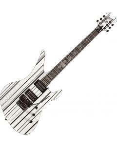 Schecter Synyster Standard Electric Guitar Gloss White with Black Pinstripes SCHECTER1746