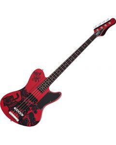 Schecter Simon Gallup Ultra Spitfire Electric Bass Red SCHECTER2266
