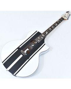 Schecter DJ Ashba Signature Acoustic Electric Guitar Satin White B-Stock 3641 sku number SCHECTER3718.B 3641
