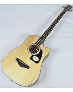 Ibanez AWB50CE-LG Artwood Series Acoustic Electric Bass in Natural Low Gloss Finish sku number AWB50CELG