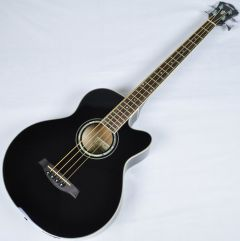 Ibanez AEB10E-BK Artwood Series Acoustic Electric Bass in Black High Gloss Finish AEB10EBK.B