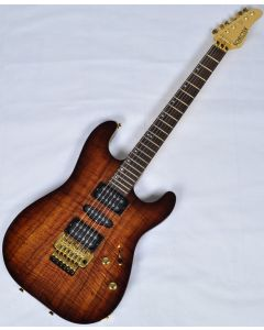 Schecter CET Koa Top USA Custom Shop Electric Guitar Tobacco Burst sku number SCHECTERUCETKTB