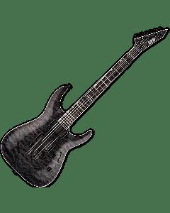 ESP LTD MH-401NT QM Electric Guitar in See Thru Black sku number LMH401NTQMSTBLK