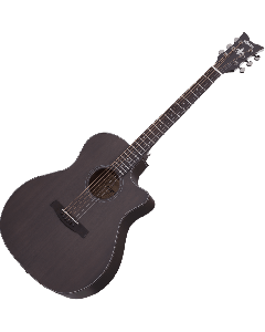 Schecter Orleans Studio Acoustic Guitar in Satin See Thru Black Finish sku number SCHECTER3713