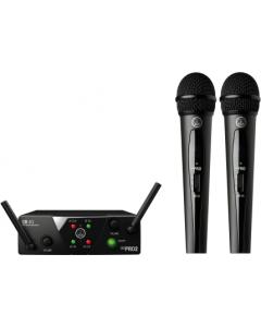 AKG WMS40 Mini Dual Vocal Set - Channels A/B sku number 3350X00050