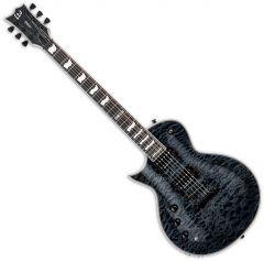 ESP LTD EC-1000 Piezo Quilted Maple Left-Handed Electric Guitar See Thru Black LEC1000PIEZOQMSTBLKLH