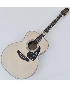 Takamine LTD 2018 Gifu-Cho NEX Acoustic Guitar Glossy Lift-Out Antique White sku number TAKLTD2018GIFUCHO