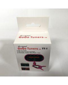 GoGo Tuners Pink TT-1 Chromatic Guitar, Bass, Violin, Viola Tuner 6STT-1Pink