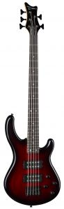 Dean Edge 2 5-String Bass Guitar Trans Red E2 5 SM TRD E2 5 SM TRD