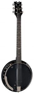 Dean Backwoods 6 Banjo w/Pickup Black Chrome BW6E BC BW6E BC