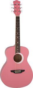 Luna Aurora Borealis 3/4 Acoustic Guitar Pink AR BOR PNK AR BOR PNK