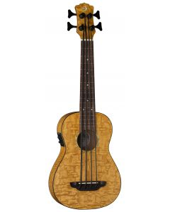 Luna Bari-Bass w/Preamp & Gigbag Quilt Top UKE BBASS QA sku number UKE BBASS QA