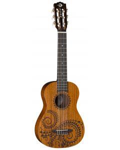 Luna Uke Tattoo Mahogany 6 String Baritone UKE TAT 6 MAH sku number UKE TAT 6 MAH