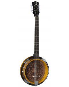 Luna Banjo Celtic 6-String Tobacco Burst BGB CEL 6 sku number BGB CEL 6