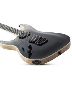Schecter C-1 SLS Elite Left Hand Electric Guitar in Black Fade Burst SCHECTER1360