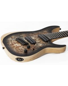 Schecter Reaper-7 Multiscale Electric Guitar in Satin Charcoal Burst sku number SCHECTER1509