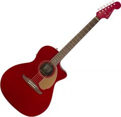 Fender Newporter Player Acoustic Guitar Candy Apple Red 0970743009