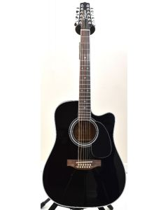 Takamine EF381SC 12 String Acoustic Guitar in Gloss Black B-Stock 0265 TAKEF381SC.B 0265