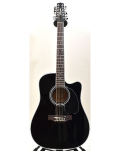 Takamine EF381SC 12 String Acoustic Guitar in Gloss Black B-Stock 0909 TAKEF381SC.B 0909