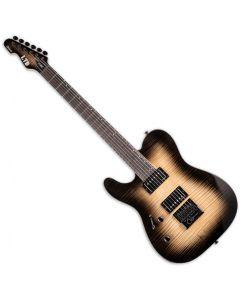 ESP LTD TE-1000 Evertune Left-Handed Electric Guitar Black Natural Burst LTE1000ETFMBLKNBLH