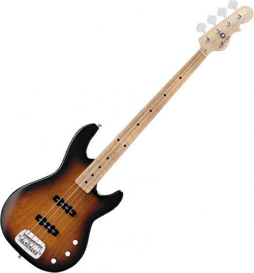 G&L Tribute JB-2 Bass Guitar in 3-Tone Sunburst Finish TI-JB2-120R20M00