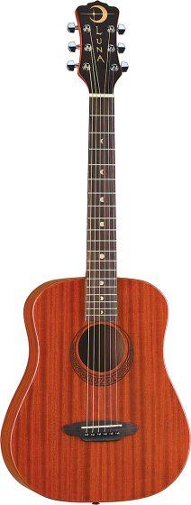 Luna Safari Muse Travel Guitar Acoustic Guitar Mahogany w/Bag SAF MUS MAH SAF MUS MAH