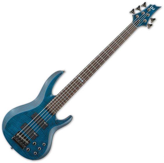 ESP LTD B-155DX Bass in See-Through Blue sku number LB155DXSTB