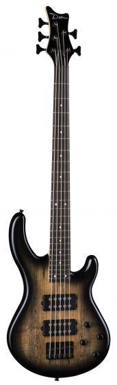 Dean Edge 2 5-String Spalted Charcoal Burst Bass Guitar E2 5 SM CHB E2 5 SM CHB