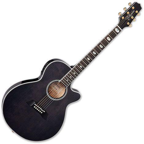 Takamine TSP158C SBL Acoustic Electric Guitar See Thru Black Gloss TAKTSP158CSBL