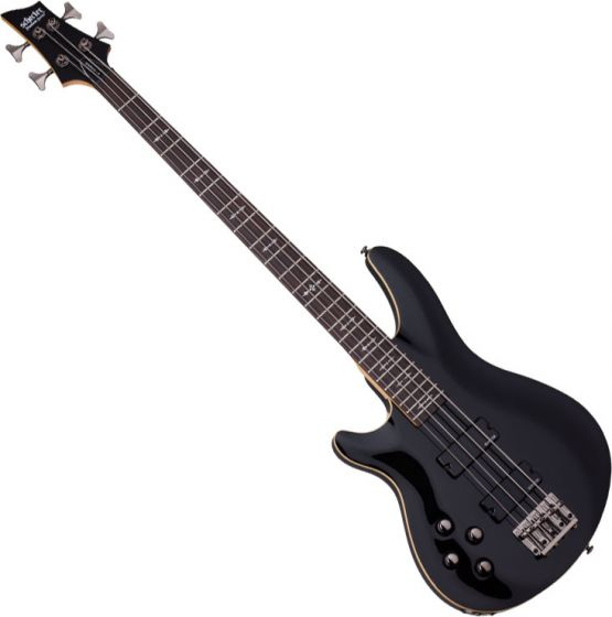 Schecter Omen-4 Left-Handed Electric Bass in Gloss Black Finish SCHECTER2092