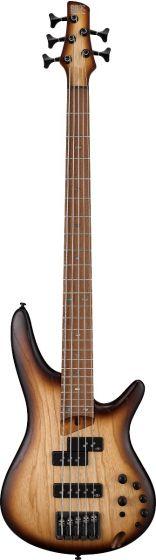 Ibanez SR Standard SR655E 5 String Natural Flat Bass Guitar sku number SR655ENNF