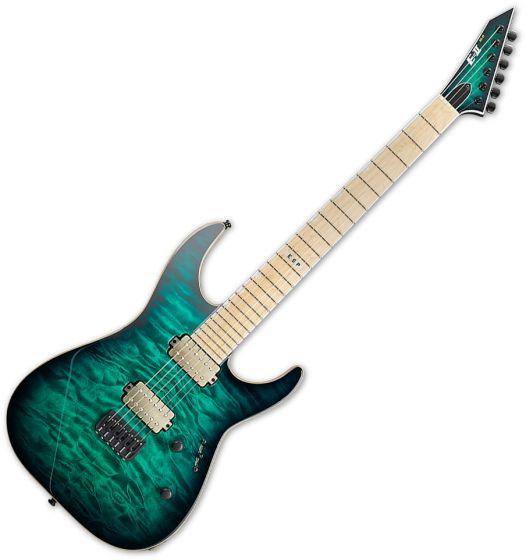 ESP E-II M-II NT Electric Guitar Black Turquoise Burst EIIMIINTHSBLKTB