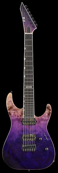 ESP E-II M-II 7 NT Purple Natural Fade Electric Guitar w/Case EIIMII7NTHSPRNFD
