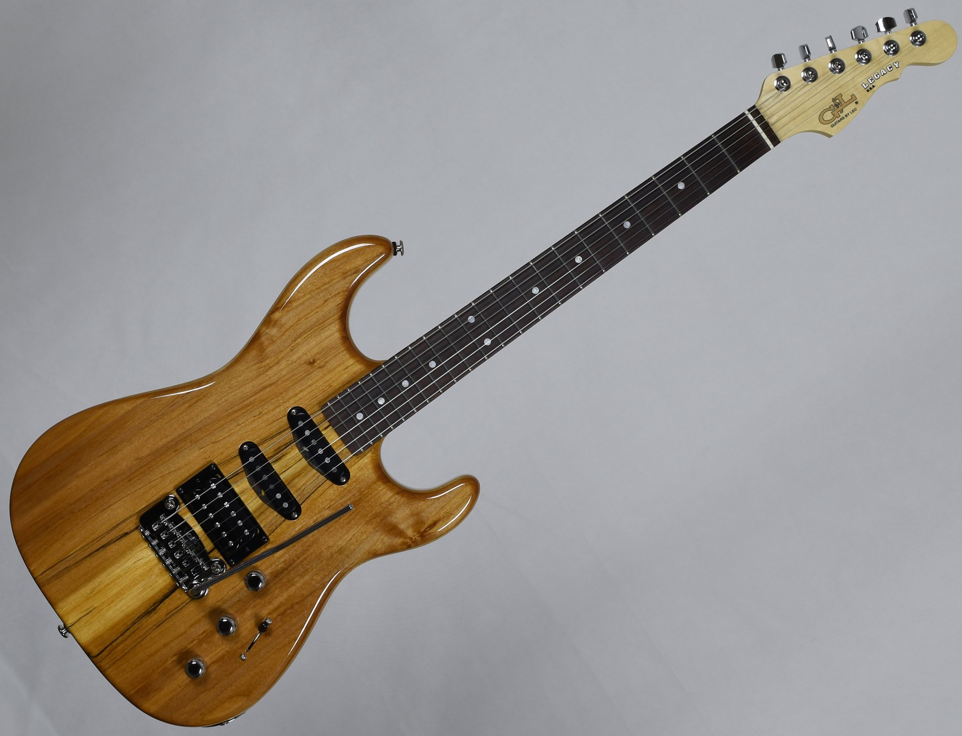 g l usa legacy spalted alder top electric guitar in natural gloss finish ebay. Black Bedroom Furniture Sets. Home Design Ideas