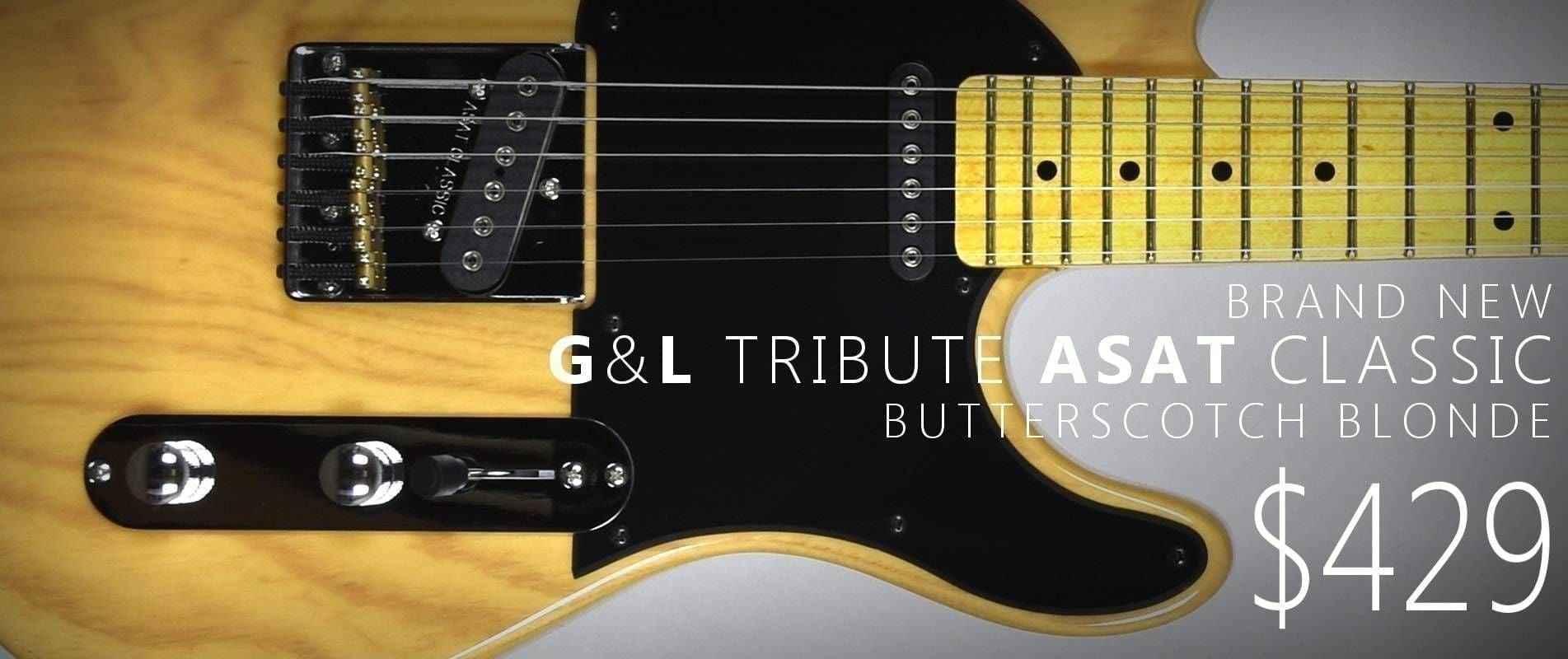 On Sale - G&L Tribute ASAT Classic Butterscotch Blonde