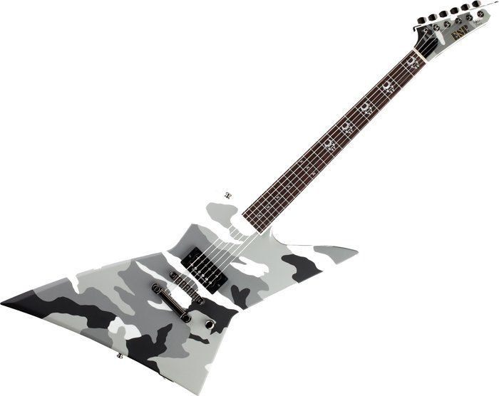 ESP Max Cavalera EX Guitar in Urban Camo Finish w/Case