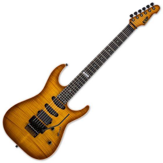 ESP USA M-III EMG Electric Guitar in Tea Sunburst