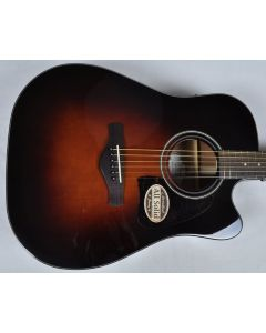 Ibanez AW4000CE-BS Artwood Series Acoustic Electric Guitar in Brown Sunburst High Gloss Finish