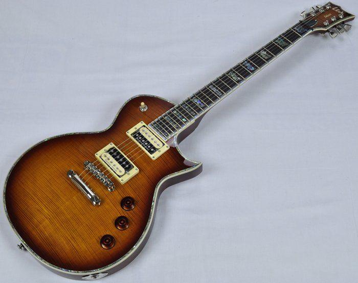 ESP LTD Deluxe EC-1000FM Electric Guitar in Amber Sunburst B-Stock