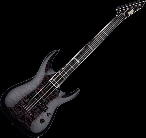 ESP USA Horizon-II Electric Guitar in See Thru Black Sunburst EMG