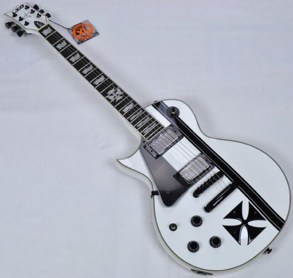 ESP LTD Iron Cross James Hetfield Left Hand Electric Guitar in Snow