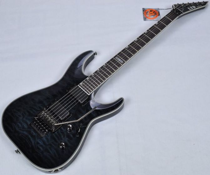 ESP LTD Deluxe MH-1001FR EMG Metalworks Electric Guitar in See Thru