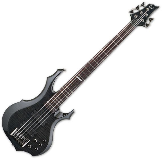 ESP LTD F-415FM Bass in See-Through Black