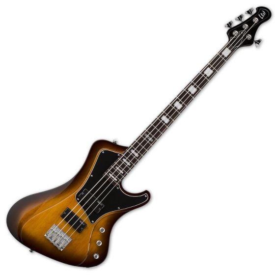 ESP LTD Stream-204 Electric Bass Guitar in Tobacco Sunburst