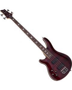Schecter Omen Extreme-4 Left-Handed Electric Bass in Black Cherry Finish SCHECTER2046